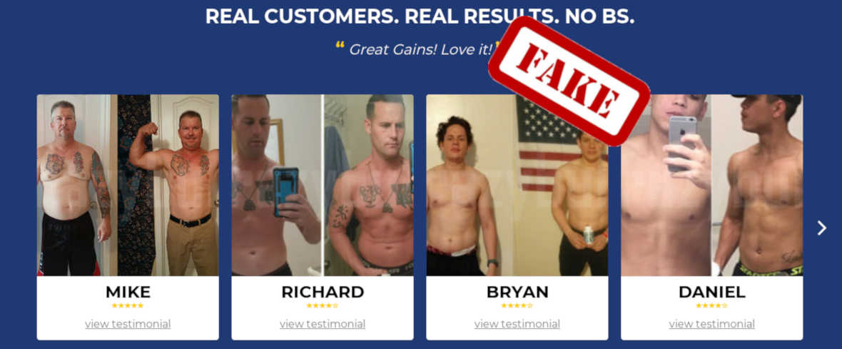 legal steroids fake results